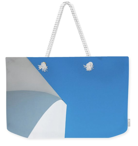 Weekender Tote Bag featuring the photograph Soft Blue by Eric Lake