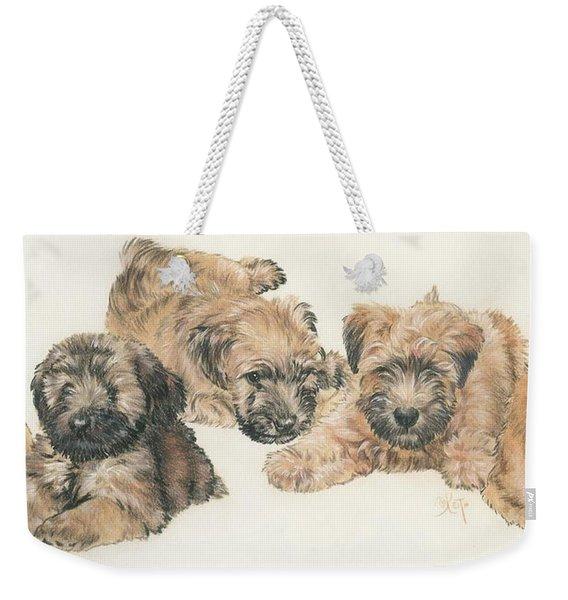 Soft-coated Wheaten Terrier Puppies Weekender Tote Bag