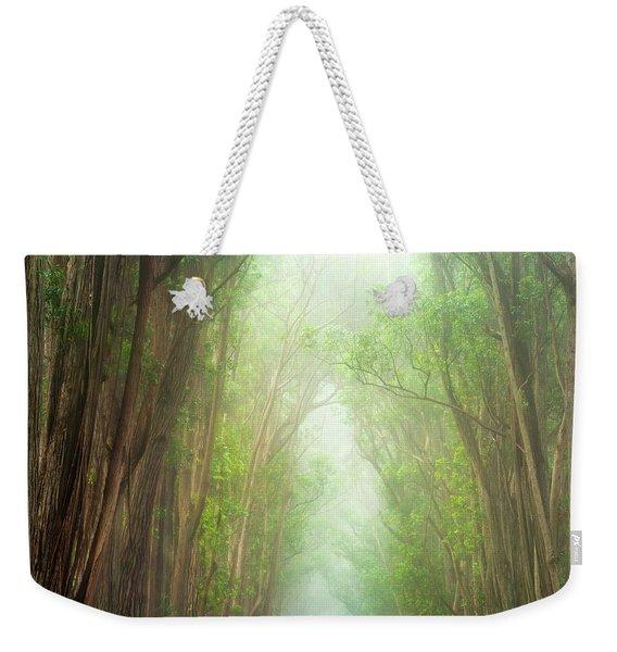 Soft Forest Light Weekender Tote Bag