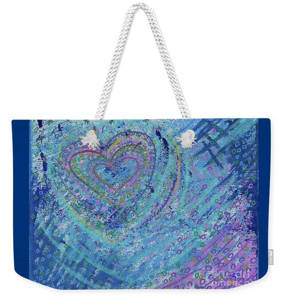 Soft Heart Weekender Tote Bag