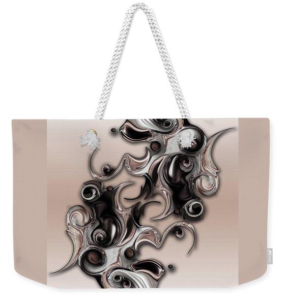 Soft Impression Of Dysplastic Departure  Weekender Tote Bag