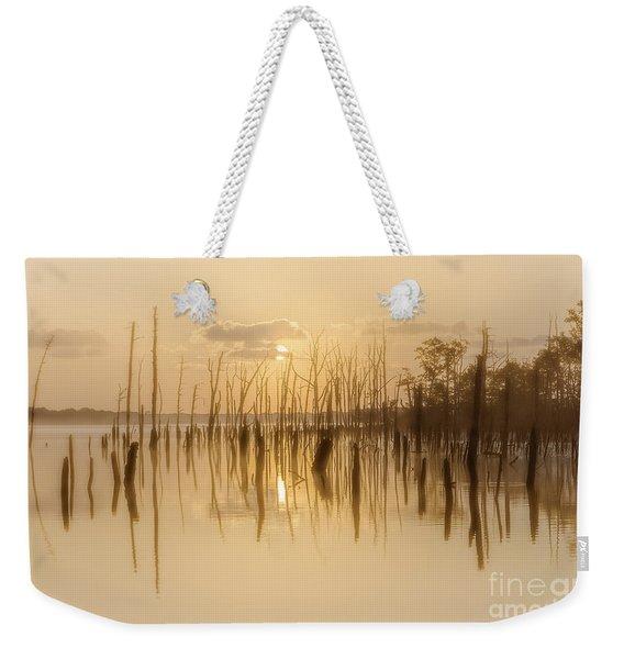 Soft Peach Sunrise At Manasquan Weekender Tote Bag