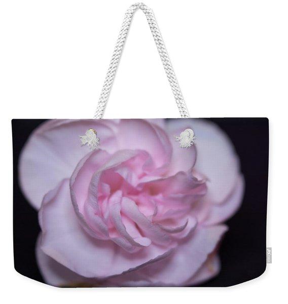 Soft Pink Rose Weekender Tote Bag