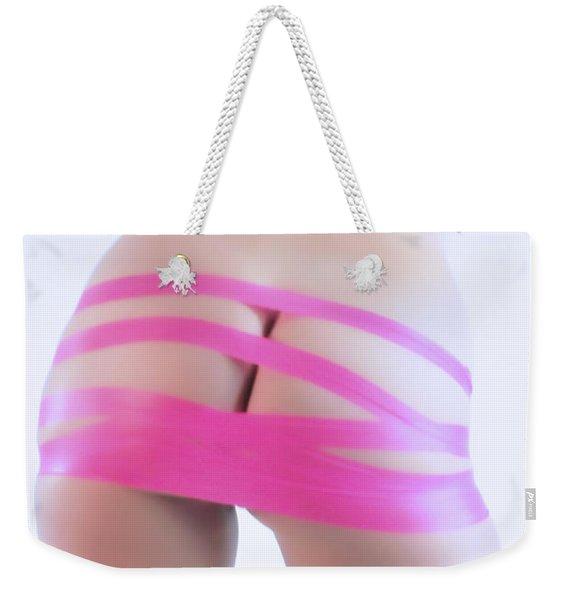 Soft Pink Tape Weekender Tote Bag