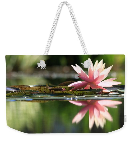 Soft Pink Water Lily Weekender Tote Bag