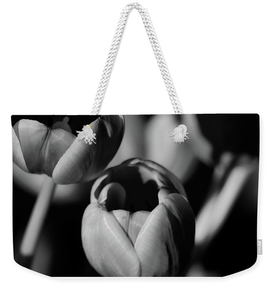 Soft Tulips B And W Weekender Tote Bag