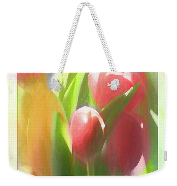 Soft Tulips Weekender Tote Bag