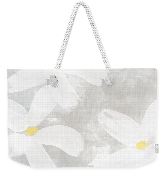 Soft White Flowers Weekender Tote Bag