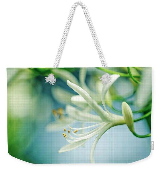 Soft White Weekender Tote Bag