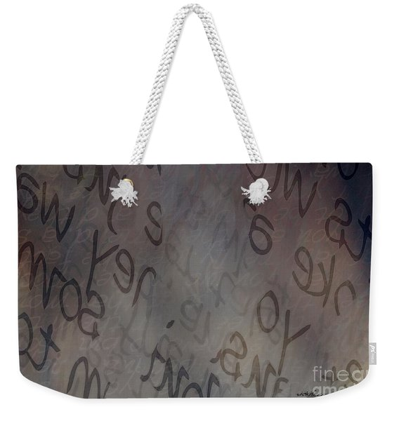 Softly Spoken Weekender Tote Bag