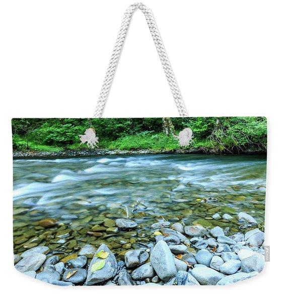 Sol Duc River In Summer Weekender Tote Bag
