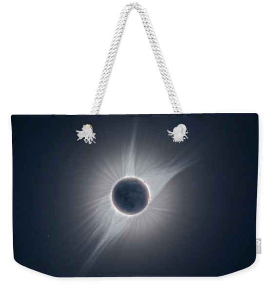 Solar Corona During The Eclipse Of August 21 2017 Weekender Tote Bag