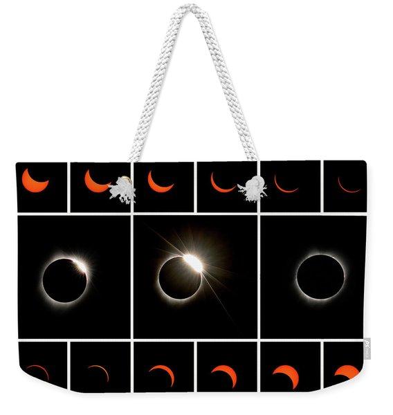 Solar Eclipse Composite Weekender Tote Bag