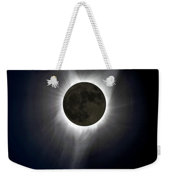 Solar Eclipse Corona Weekender Tote Bag