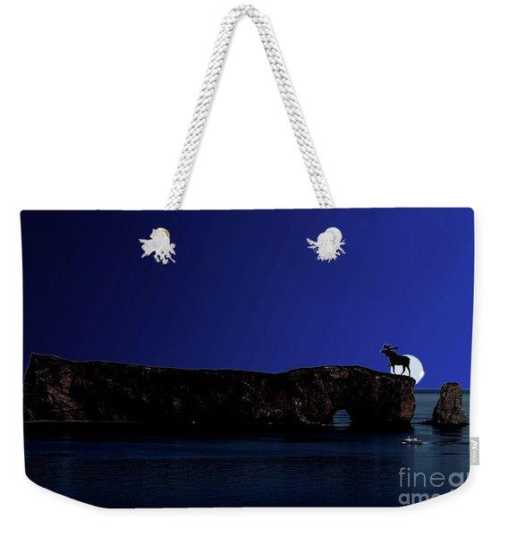 Solar Eclipse Over Perce Rock Weekender Tote Bag
