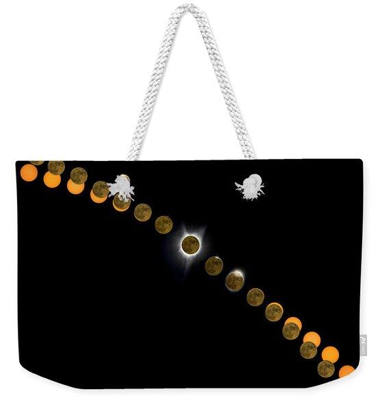 Solar Eclipse Stages 2017 Weekender Tote Bag