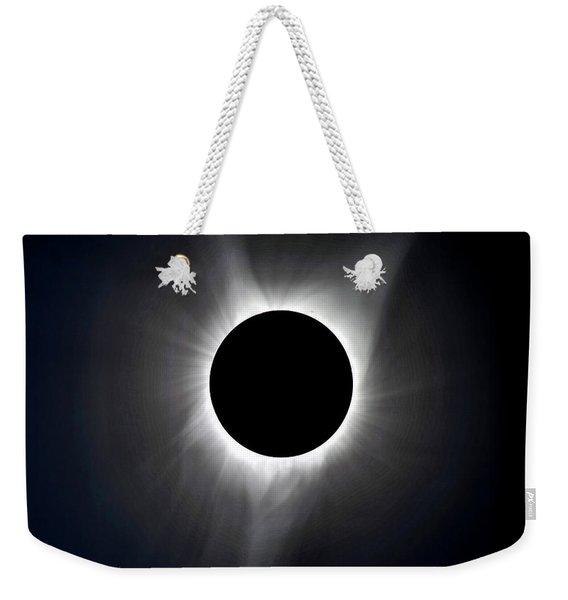 Solar Eclipse Totality Corona Weekender Tote Bag