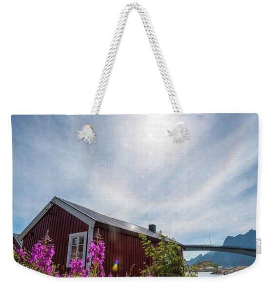 Solar Halo Above Rorbu Weekender Tote Bag