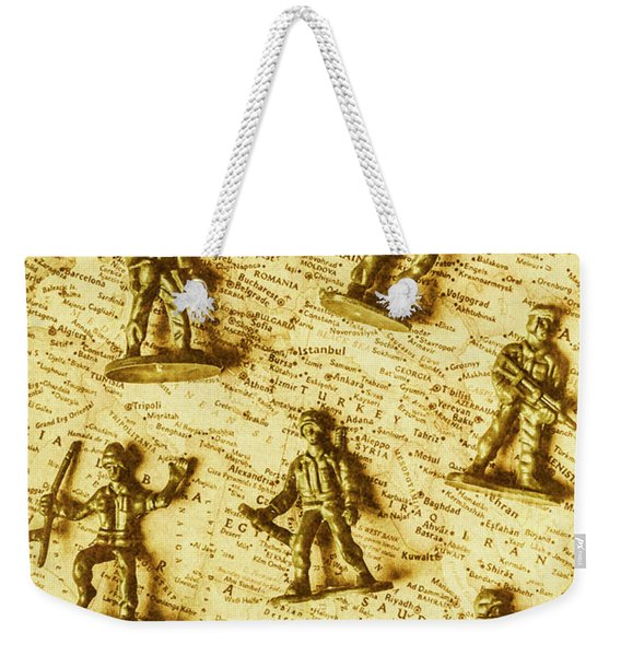 Soldiers And Battle Maps Weekender Tote Bag