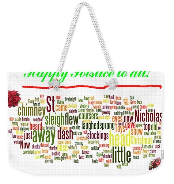 Solstice Greeting Weekender Tote Bag