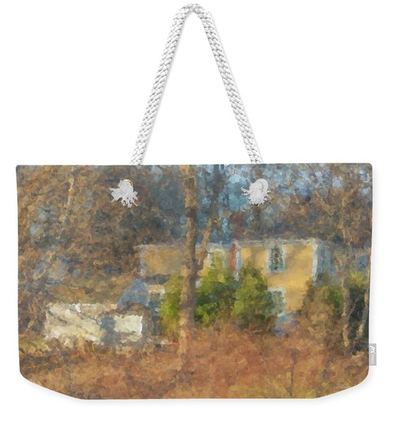 Solstice Morning Light On Colonial Home Weekender Tote Bag