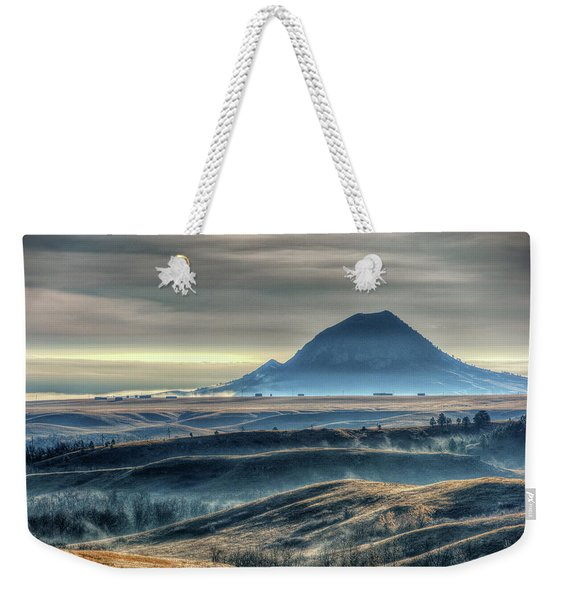 Some Bear Butte Fog Weekender Tote Bag