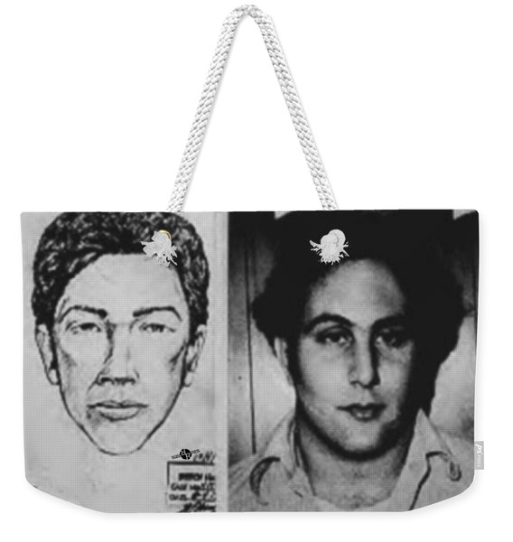 Son Of Sam David Berkowitz Mug Shot And Police Sketch Weekender Tote Bag