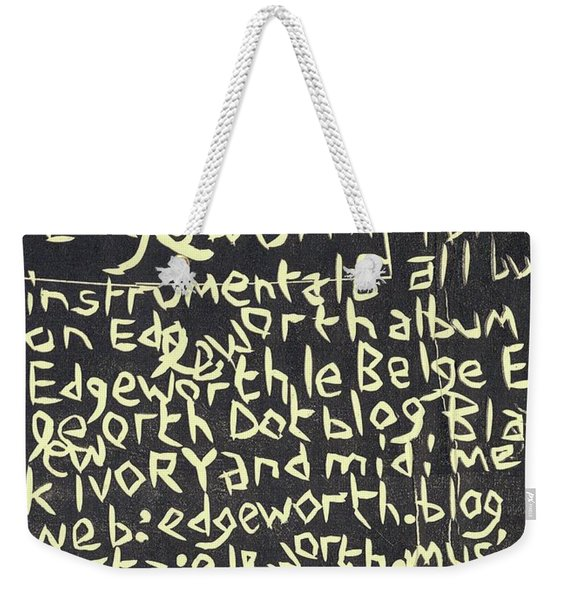 Song Notes Title Page A-l Weekender Tote Bag