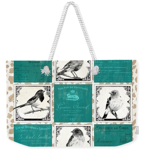 Songbird Cheetah Patch Weekender Tote Bag