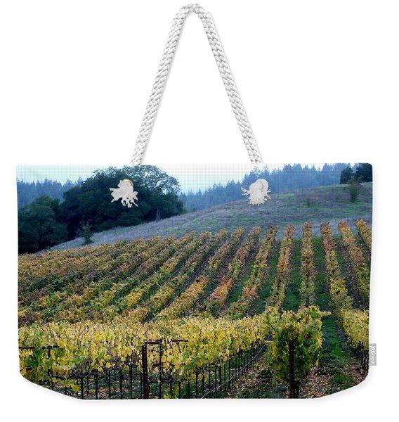 Sonoma County Vineyards Near Healdsburg Weekender Tote Bag