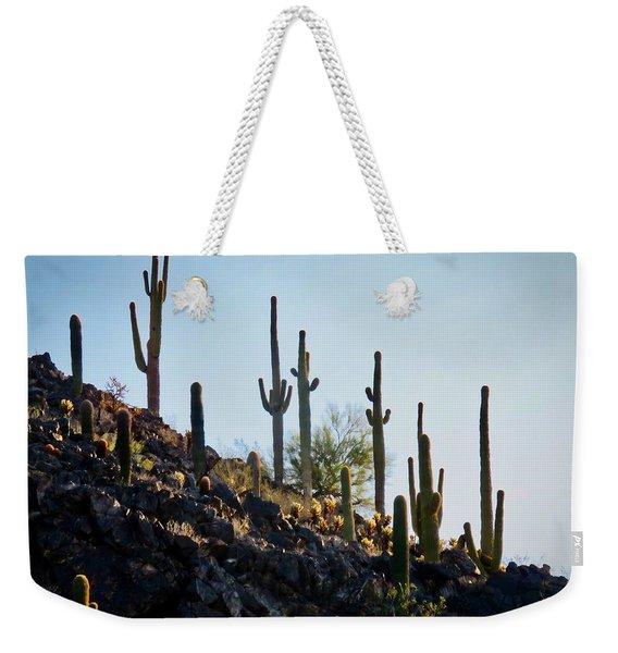 Sonoran Desert Saguaro Slope Weekender Tote Bag