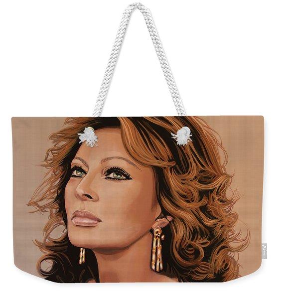 Sophia Loren 3 Weekender Tote Bag