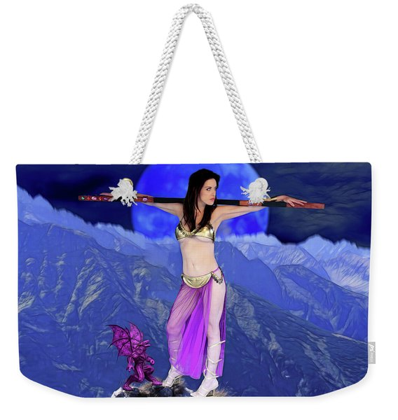 Sorceress And Her Familar Weekender Tote Bag