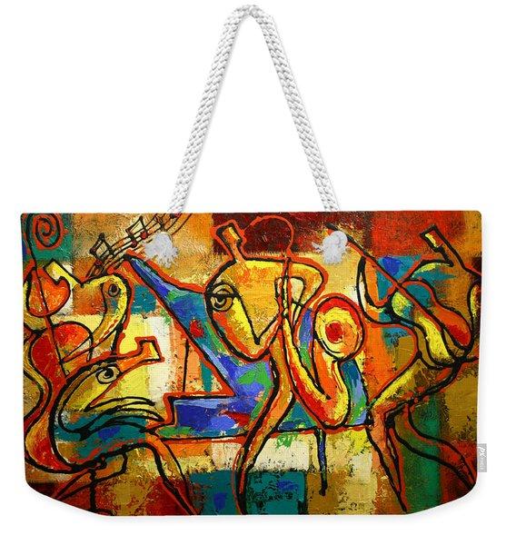 Soul Jazz Weekender Tote Bag