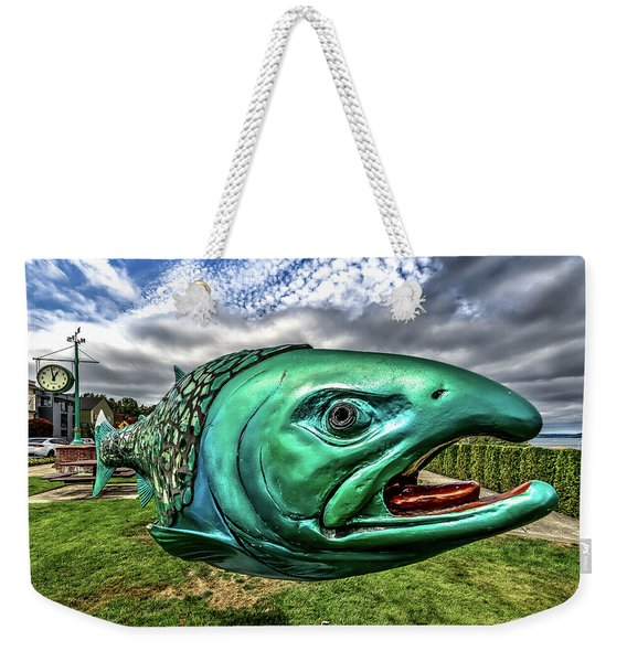 Soul Salmon In Hdr Weekender Tote Bag