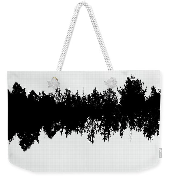 Sound Waves Made Of Trees Reflected Weekender Tote Bag