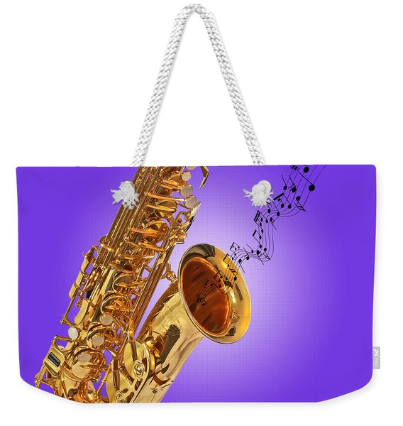 Sounds Of The Sax In Purple Weekender Tote Bag