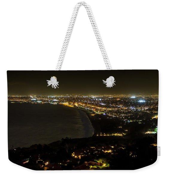 South Bay At Night Weekender Tote Bag