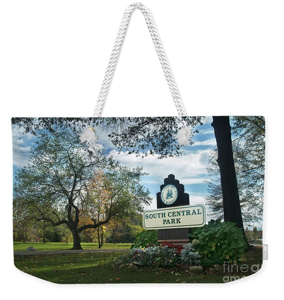 South Central Park - Autumn Weekender Tote Bag
