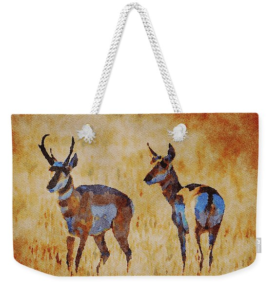 South Dakota 2017 Antelope Weekender Tote Bag