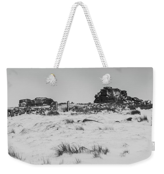 South Hessary Tor In The Snow Weekender Tote Bag