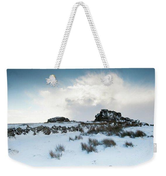 South Hessary Tor In The Snow II Weekender Tote Bag