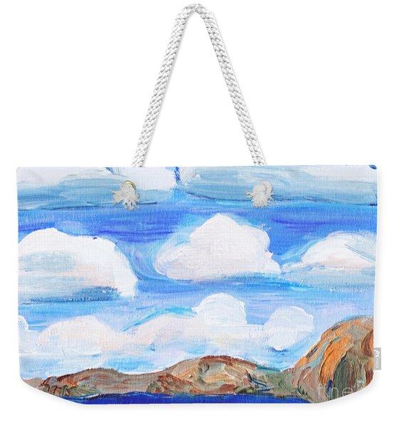 South Morro Bay View To North Weekender Tote Bag