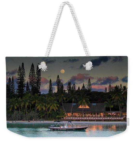 South Pacific Moonrise Weekender Tote Bag