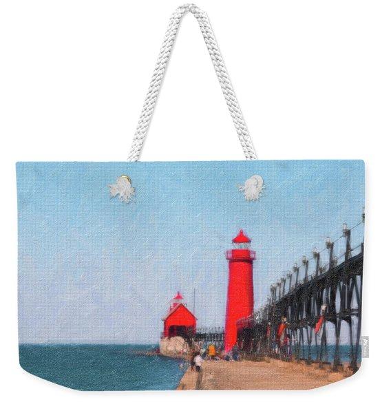 South Pier Of Grand Haven Weekender Tote Bag