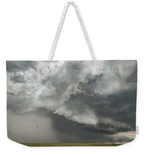 Weekender Tote Bag featuring the photograph South Plains Hail Core by Scott Cordell