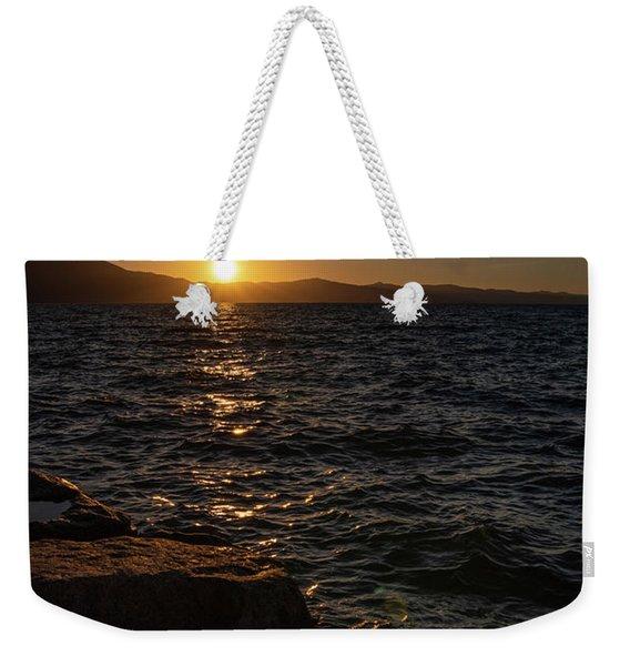 South Shore Sunset Weekender Tote Bag