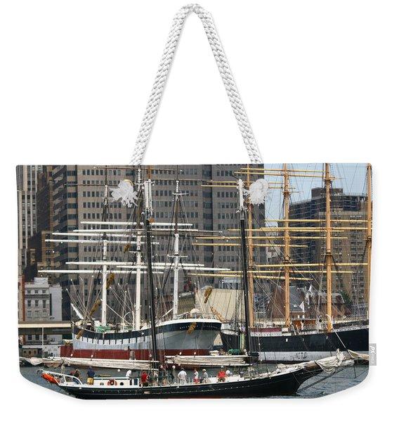 South Street Seaport Pioneer Weekender Tote Bag
