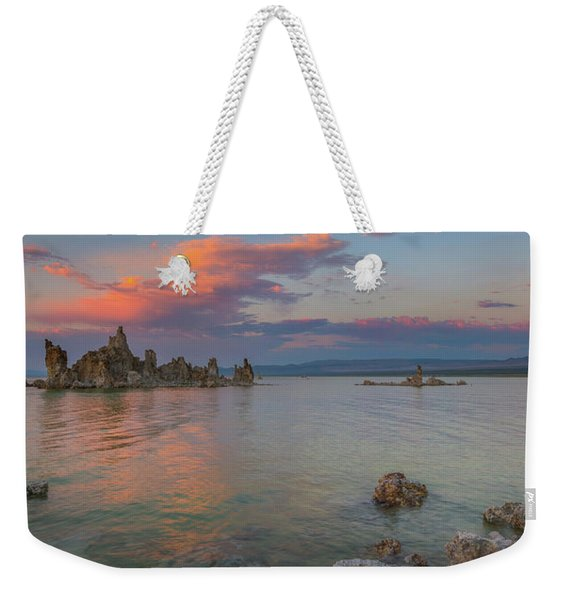 South Tufa Mono Lake Sunset Panorama  Weekender Tote Bag
