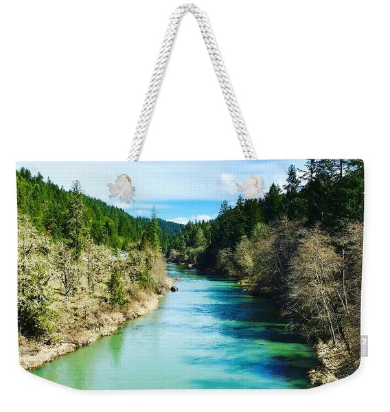 South Umpqua River Oregon  Weekender Tote Bag